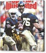 University Of Notre Dame Qb Tony Rice, 1989 Fiesta Bowl Sports Illustrated Cover Acrylic Print