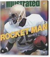 University Of Notre Dame Rocket Ismail Sports Illustrated Cover Acrylic Print