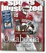University Of Oklahoma Adrian Peterson Sports Illustrated Cover Acrylic Print