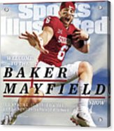University Of Oklahoma Baker Mayfield Sports Illustrated Cover Acrylic Print