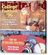 University Of Tennessee Qb Peyton Manning Sports Illustrated Cover Acrylic Print