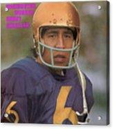 University Of Washington Qb Sonny Sixkiller Sports Illustrated Cover Acrylic Print
