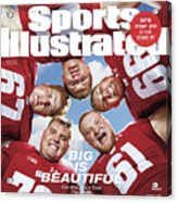 University Of Wisconsin Offensive Line, 2018 College Sports Illustrated Cover Acrylic Print