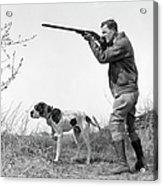 Upland Bird Hunter With Pointer Dog Acrylic Print