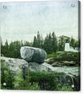 Upon This Rock Acrylic Print