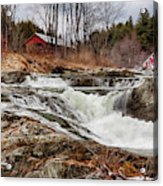 Upper Cox Brook Fall Covered Bridge Acrylic Print