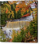 Upper Tahquamenon Autumn Colors -0007 Acrylic Print