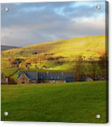 Upper Wensleydale And Lovely Seat From Hawes In Yorkshire Dales Acrylic Print