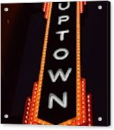 Uptown Signage 5 Acrylic Print