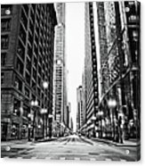 Urban Chicago City Intersection Of Acrylic Print