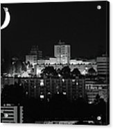 Urban Moonset Acrylic Print