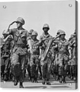 U.s. Marines Marching In Review Acrylic Print