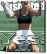 Usa Brandi Chastain, 1999 Womens World Cup Final Sports Illustrated Cover Acrylic Print