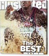 Usa Carl Lewis, 1996 Summer Olympics Sports Illustrated Cover Acrylic Print