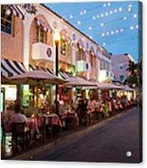 Usa, Florida, Miami Beach. Restaurant Acrylic Print
