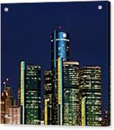 Usa, Michigan, Detroit, Skyline & Acrylic Print