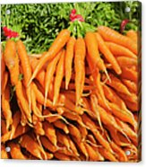 Usa, New York City, Carrots For Sale Acrylic Print
