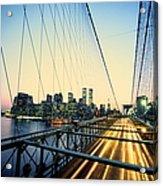 Usa, New York City, Manhattan, View Acrylic Print