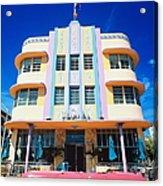 Usa,florida,miami Beach,art Deco Acrylic Print