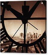 Usa,new York City, Brooklyn Bridge And Acrylic Print