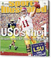 Uscs The 1 Trojans Claim Ap Title In Rose Bowl Sports Illustrated Cover Acrylic Print