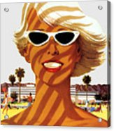 Vacation Sunshine - T-shirt Acrylic Print