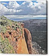 Valley Colorado National Monument Sky Clouds 2892 Acrylic Print