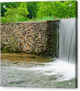Valley Creek Waterfall Panorama Acrylic Print