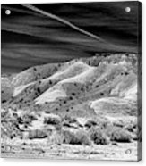 Valley Of Fire Black White Nevada  Acrylic Print