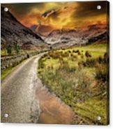 Valley Sunset Snowdonia Acrylic Print