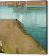 Valparaiso Harbor - Digital Remastered Edition Acrylic Print