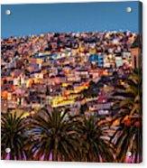 Valparaiso Illuminated At Night Acrylic Print