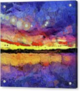 Van Gogh Sunset Reflection Acrylic Print