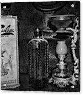 Vapo-cresolene Vaporizer And Bottle Respiratory Remedy Black And White Acrylic Print