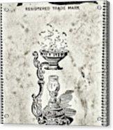 Vapo-cresolene Vaporizer Original Packaging Black And White Acrylic Print