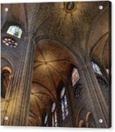Vaults Of Notre Dame De Paris Before The Fire Of 2019 Acrylic Print