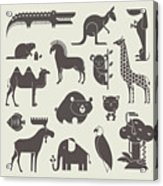 Vector Animals Set Acrylic Print