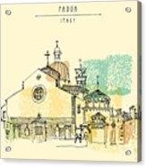 Vector Illustration Of Padua Cathedral Acrylic Print