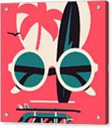 Vector Modern Flat Wall Art Poster Acrylic Print
