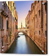Venice Cityscape Water Canal Campanile Church And Bridge Ital Photograph By Stevanzz Photography