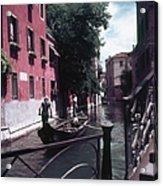 Venice Gondoliers Acrylic Print