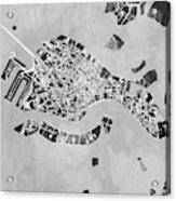 Venice Italy City Map Acrylic Print
