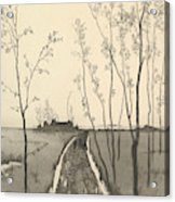 Verfolgung, From The Series Radierte Skizzen Acrylic Print