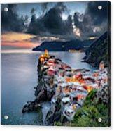 Vernazza Cityscape Acrylic Print