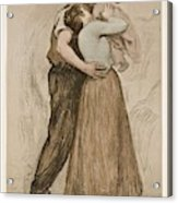 Victor Emile Prouve  French  1858   1943 The Kiss  Le Baiser  1898  Collotype On Wove Paper Acrylic Print