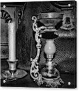 Victorian Medical Device Vapo Cresolene Vaporizer Bw Acrylic Print