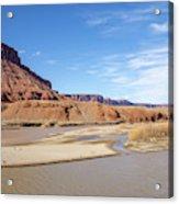 View At Sorrel River Ranch On The Colorado River Near Moab, Utah Acrylic Print