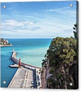 View From Castle Hill To The Sea In Nice Acrylic Print
