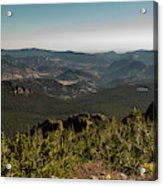View From Flattop Mountain Trail Acrylic Print