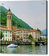 View From Laglio On Lake Como Acrylic Print